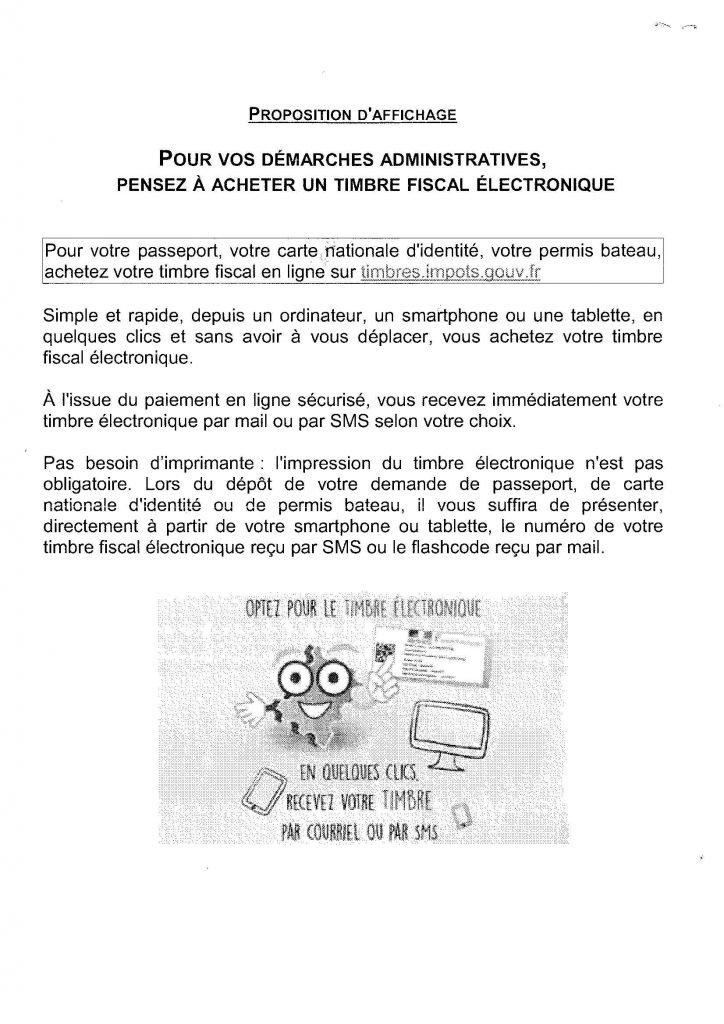 Delivrance Du Timbre Fiscal Par Voie Electronique Commune De Fouilloy